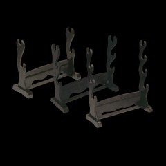 BLACK LACQUERED SWORD STANDS