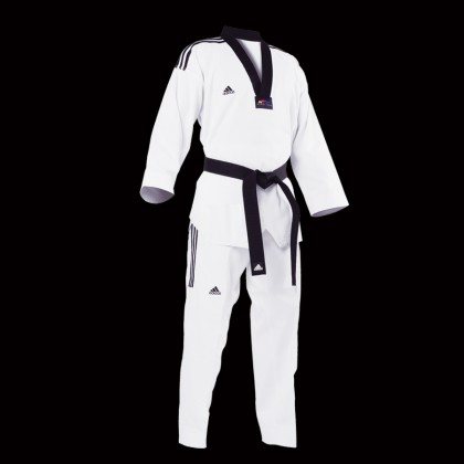 ADIDAS GRAND MASTER TAEKWONDO UNIFORM WITH 3STRIPES