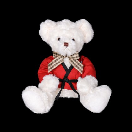 MARTIAL ARTS TEDDY BEAR - IVORY