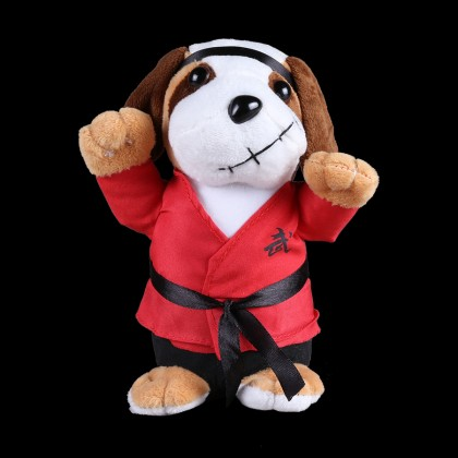 PLUSH PUPPY WITH RED UNIFORM