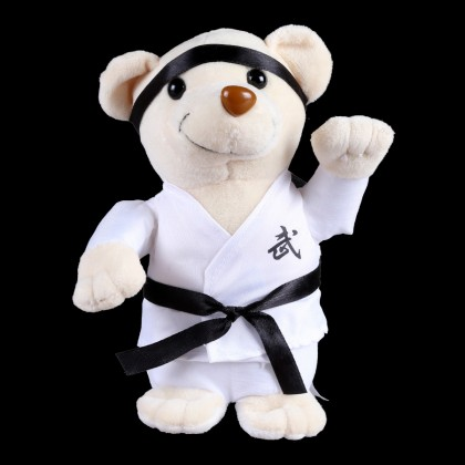 PLUSH WHITE BEAR WITH WHITE UNIFORM