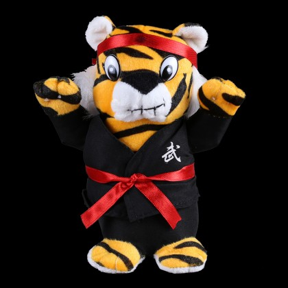 PLUSH TIGER WITH BLACK UNIFORM