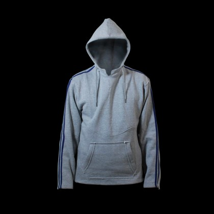 DYNAMICS HOODED SWEATSHIRT WITH STRIPES