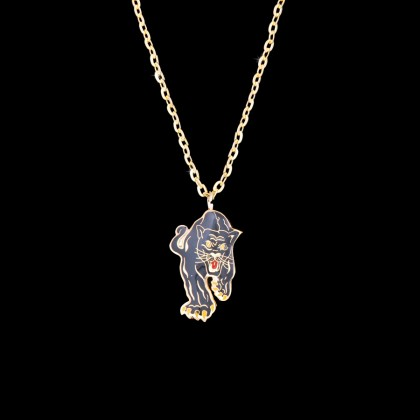 GOLD BLACK TIGER NECKLACE