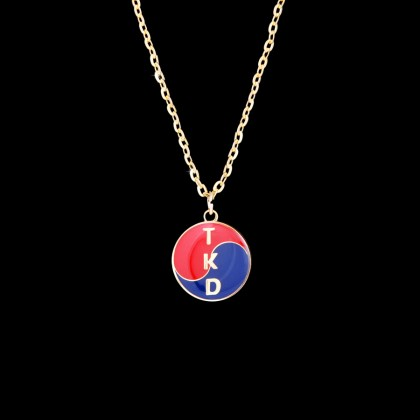 GOLD YING YANG TKD NECKLACE