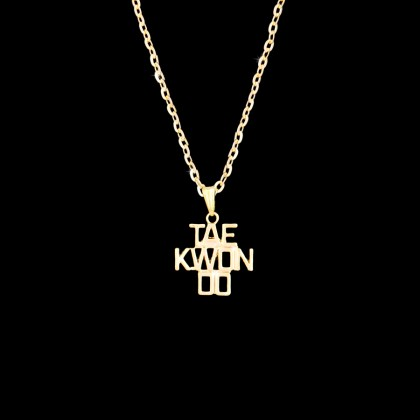 GOLD TAEKWONDO NECKLACE