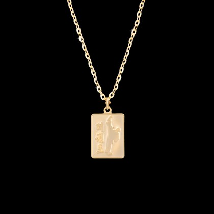GOLD KICKING TKD NECKLACE