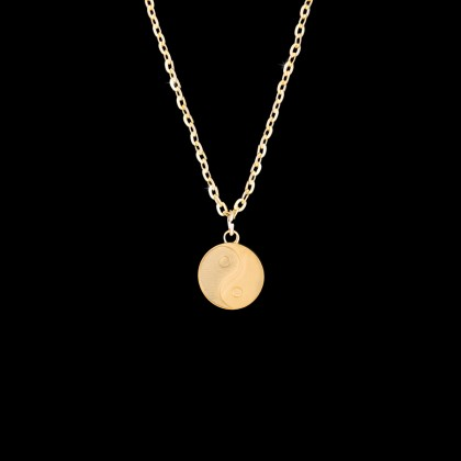GOLD YING YANG NECKLACE