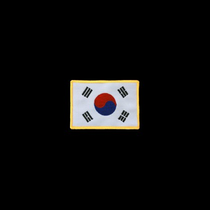 KOREA FLAG WITH GOLD FRAME PATCH