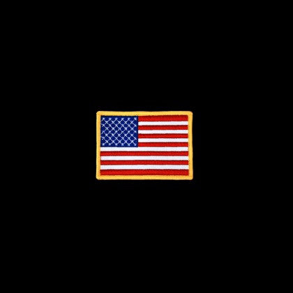 USA FLAG WITH GOLD FRAME PATCH