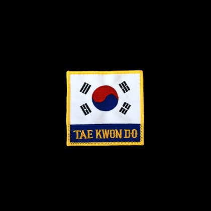 The national flag of Korea & TAEKWONDO PATCH