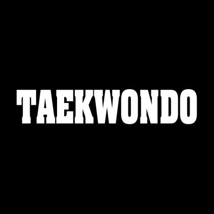 DECAL LETTERING - TAEKWONDO